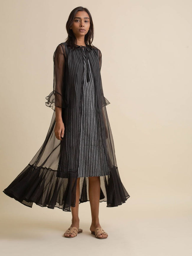 Tape Detail Dress - DRESS - IKKIVI - Shop Sustainable & Ethical Fashion