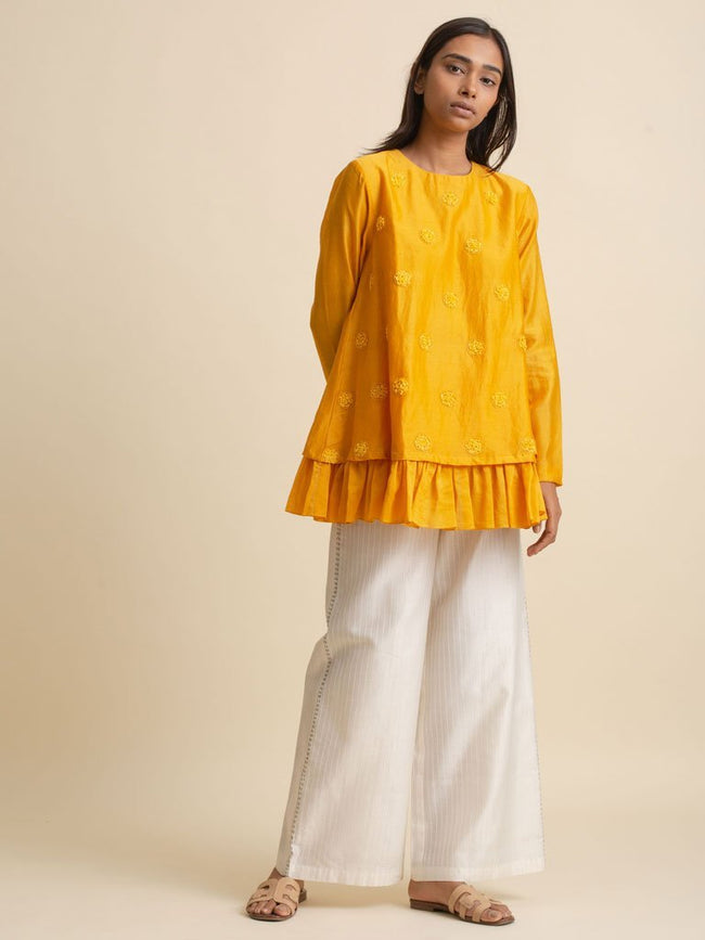 Bottom Frill Top - TOP - IKKIVI - Shop Sustainable & Ethical Fashion