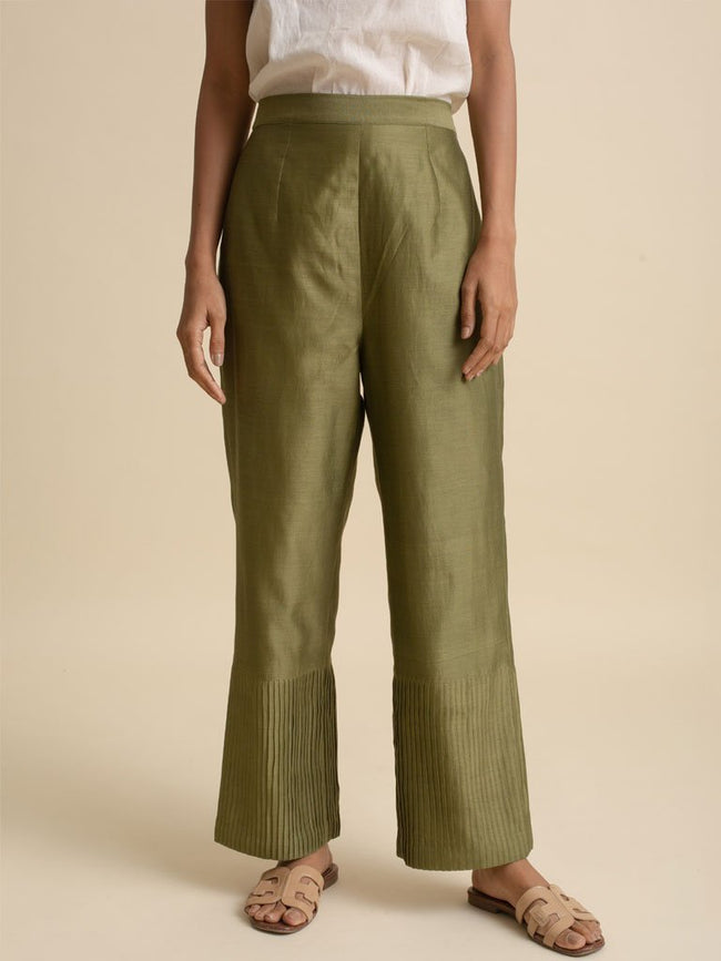 Pintuck Pants - PANTS - IKKIVI - Shop Sustainable & Ethical Fashion