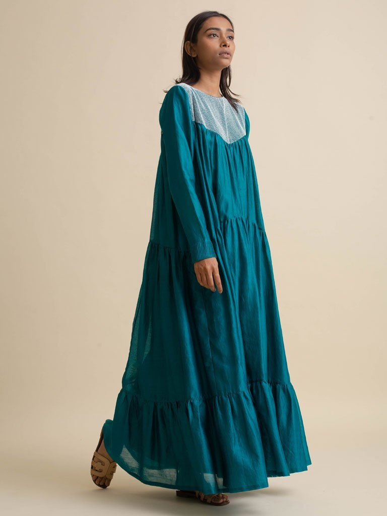 Gathered Maxi Dress - DRESS - IKKIVI - Shop Sustainable & Ethical Fashion