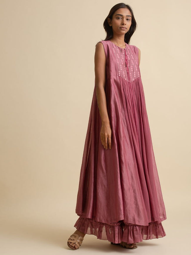Yoke Detail Maxi Dress - DRESS - IKKIVI - Shop Sustainable & Ethical Fashion
