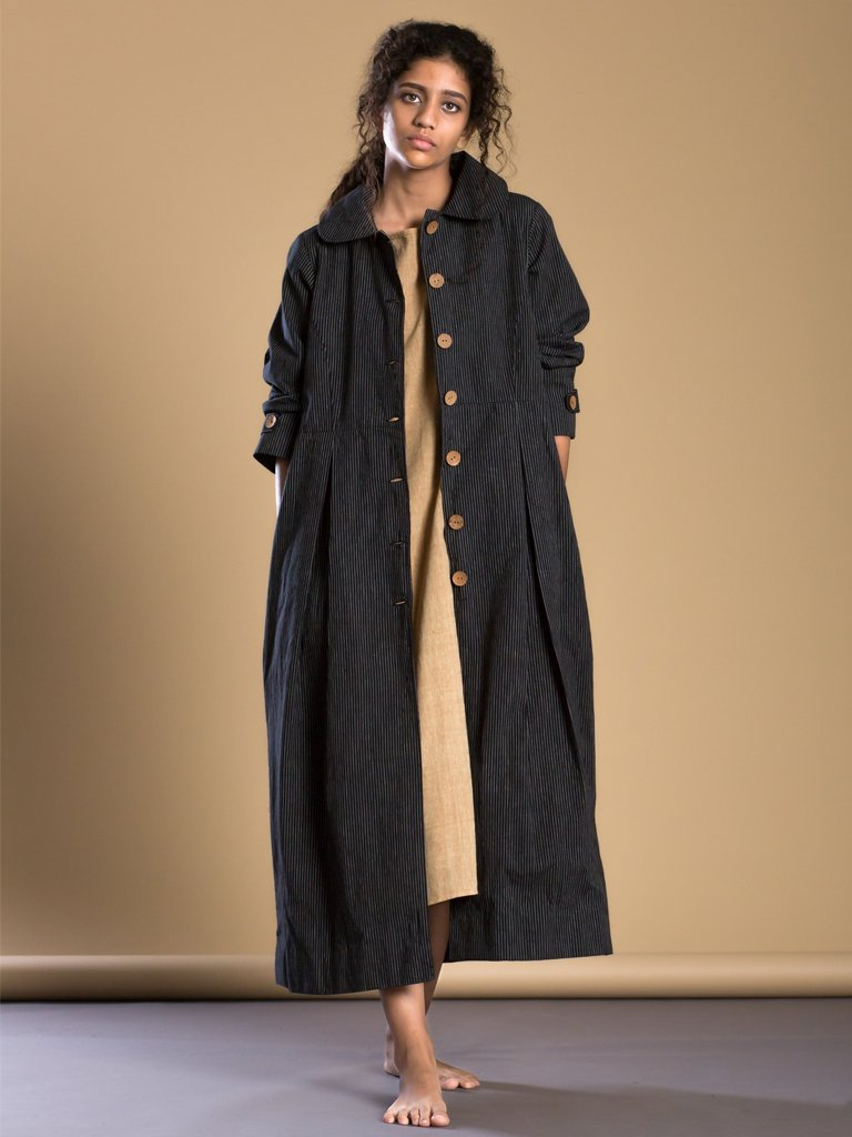 black handloom cotton Cali Aakaar jacket image 1