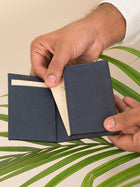 Reed Blue Business Card Holder detail