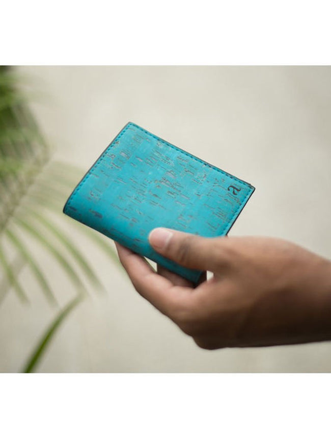 Orion Classic Teal Wallet - BAGS - IKKIVI - Shop Sustainable & Ethical Fashion