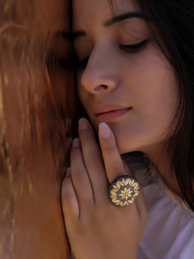 Gold Floral Ring - JEWELLERY - IKKIVI - Shop Sustainable & Ethical Fashion