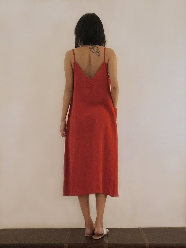 Scarlet Slip Dress - DRESSES - IKKIVI - Shop Sustainable & Ethical Fashion