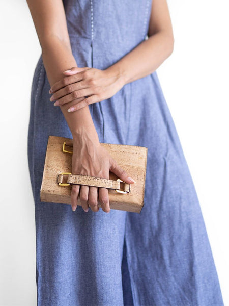 Palm Natural Clutch Bag - BAGS - IKKIVI - Shop Sustainable & Ethical Fashion