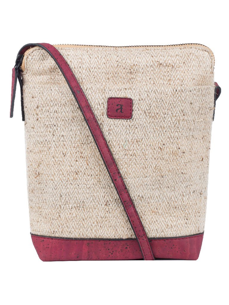 Ava Maroon Sling Bag - BAGS - IKKIVI - Shop Sustainable & Ethical Fashion