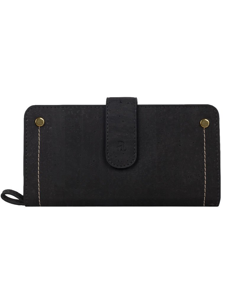 Kim Clutch Black Maroon Wallet frontside