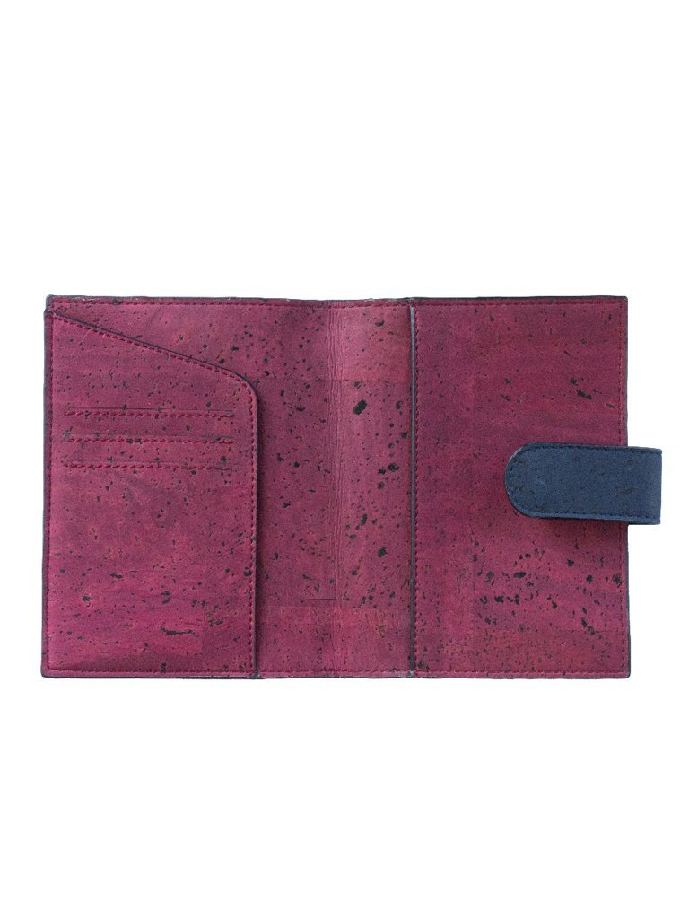 Cedar Passport Maroon Wallet - BAGS - IKKIVI - Shop Sustainable & Ethical Fashion