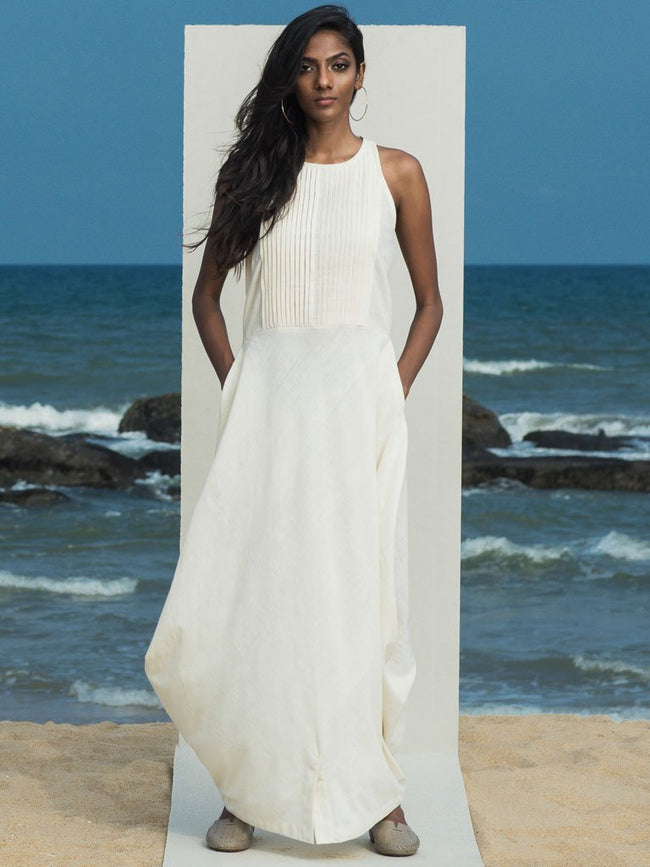 Asrai Drape Maxi - DRESSES - IKKIVI - Shop Sustainable & Ethical Fashion