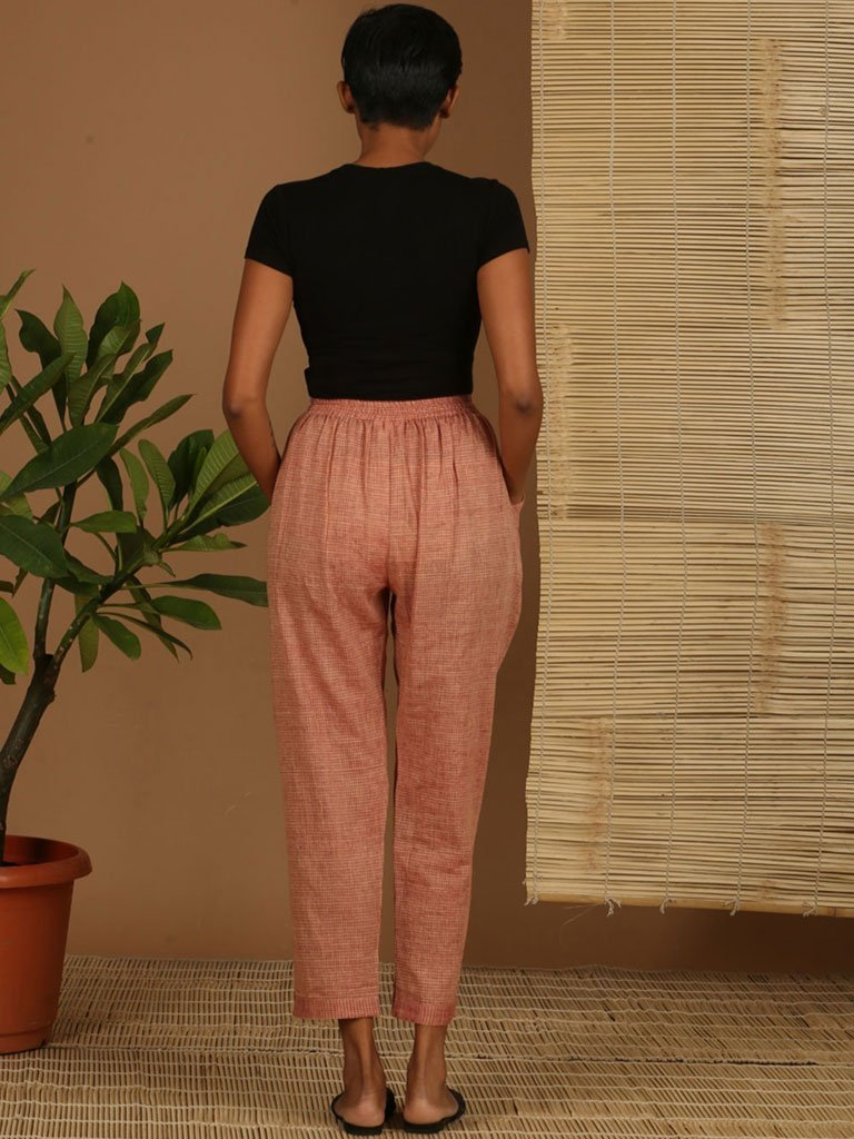 Red Check Pants - SKIRTS & TROUSERS - IKKIVI - Shop Sustainable & Ethical Fashion