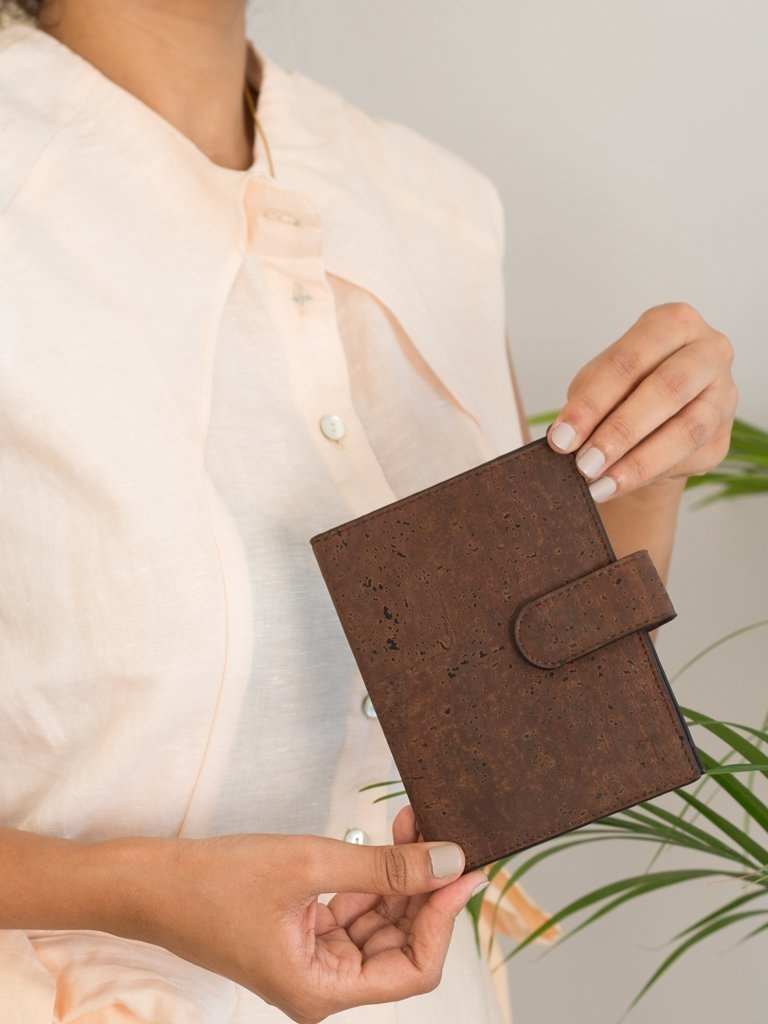 Cedar Passport Dark Brown Wallet - BAGS - IKKIVI - Shop Sustainable & Ethical Fashion