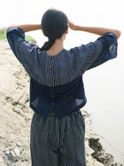 Blue Stripe Top - TOPS - IKKIVI - Shop Sustainable & Ethical Fashion