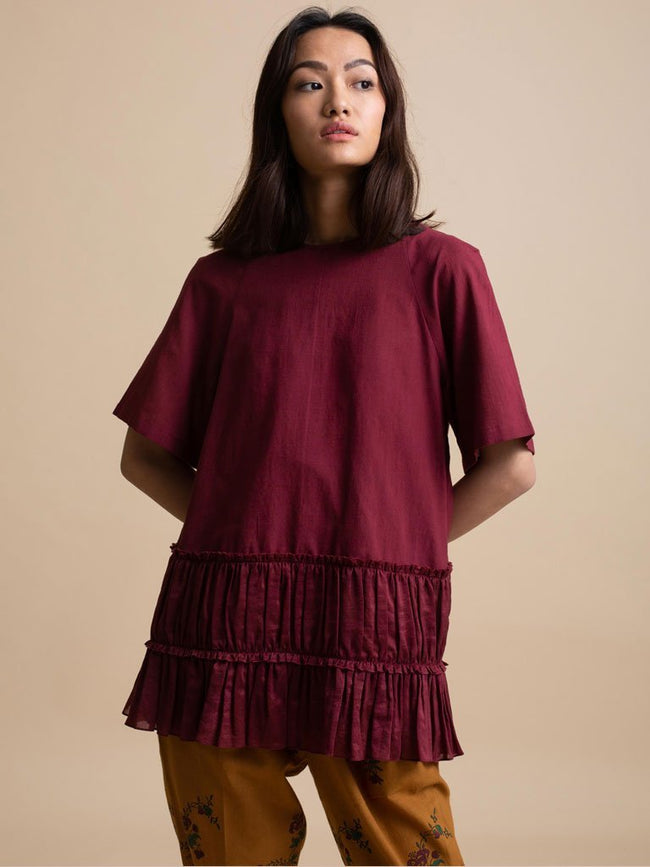 Bottom Frill Top - TOPS - IKKIVI - Shop Sustainable & Ethical Fashion