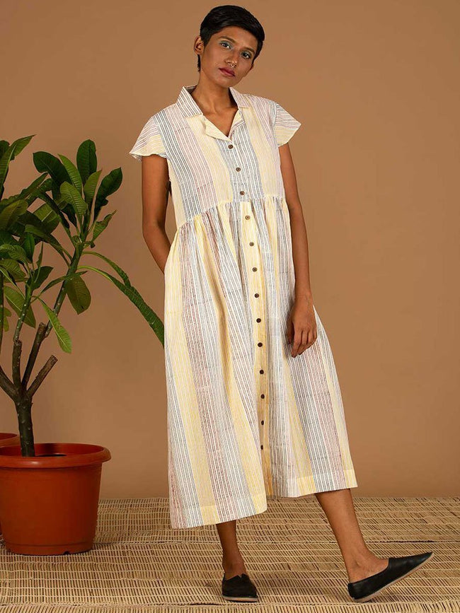 Colourful Stripe Dress - DRESSES - IKKIVI - Shop Sustainable & Ethical Fashion