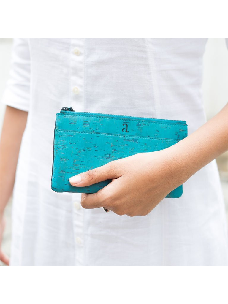 Slim Kim Teal Wallet