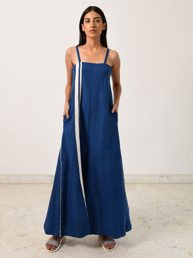 Indigo Jumpsuit - JUMPSUITS - IKKIVI - Shop Sustainable & Ethical Fashion