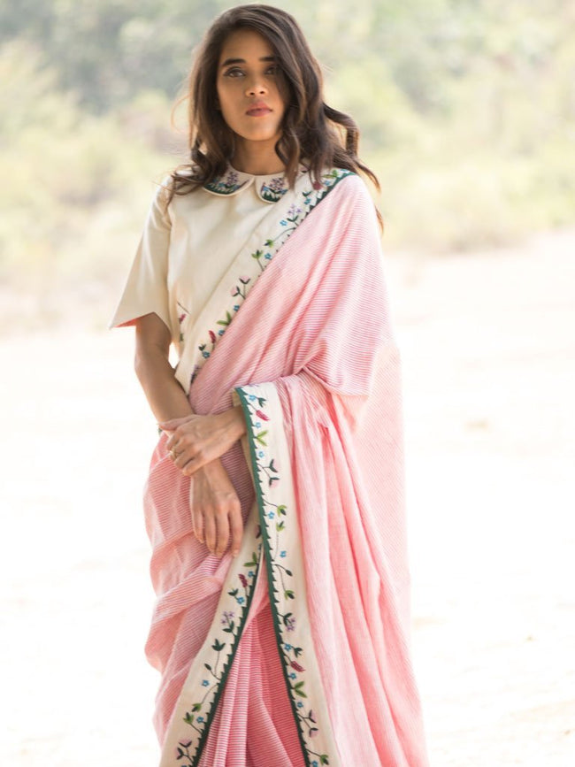 Ikebena Saree - SAREE - IKKIVI - Shop Sustainable & Ethical Fashion