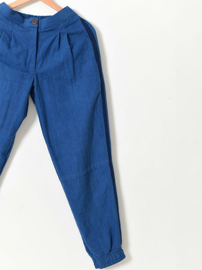 Indigo Jogger Pants - BOTTOMS - IKKIVI - Shop Sustainable & Ethical Fashion