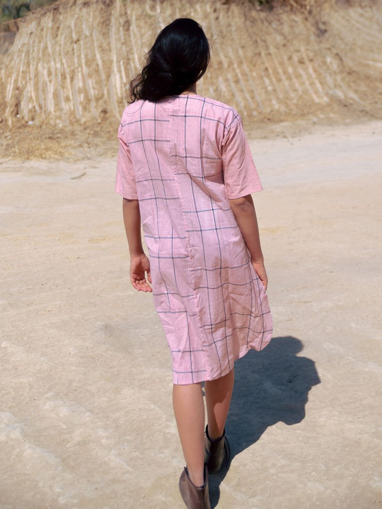 Dusty Pink Pleated Tunic - DRESSES - IKKIVI - Shop Sustainable & Ethical Fashion