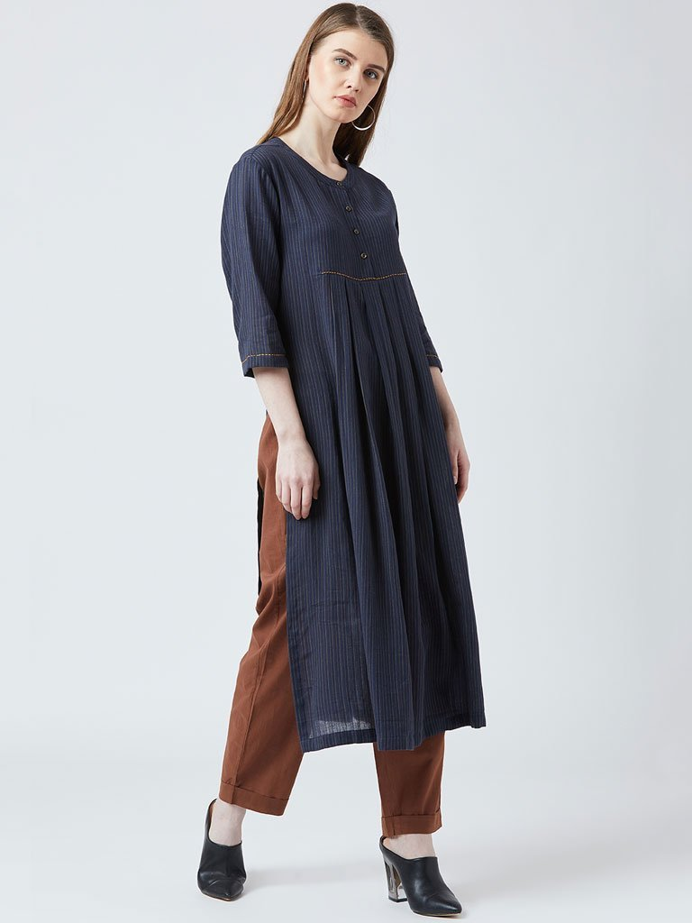 Front Pleat Tunic Set - DRESSES - IKKIVI - Shop Sustainable & Ethical Fashion