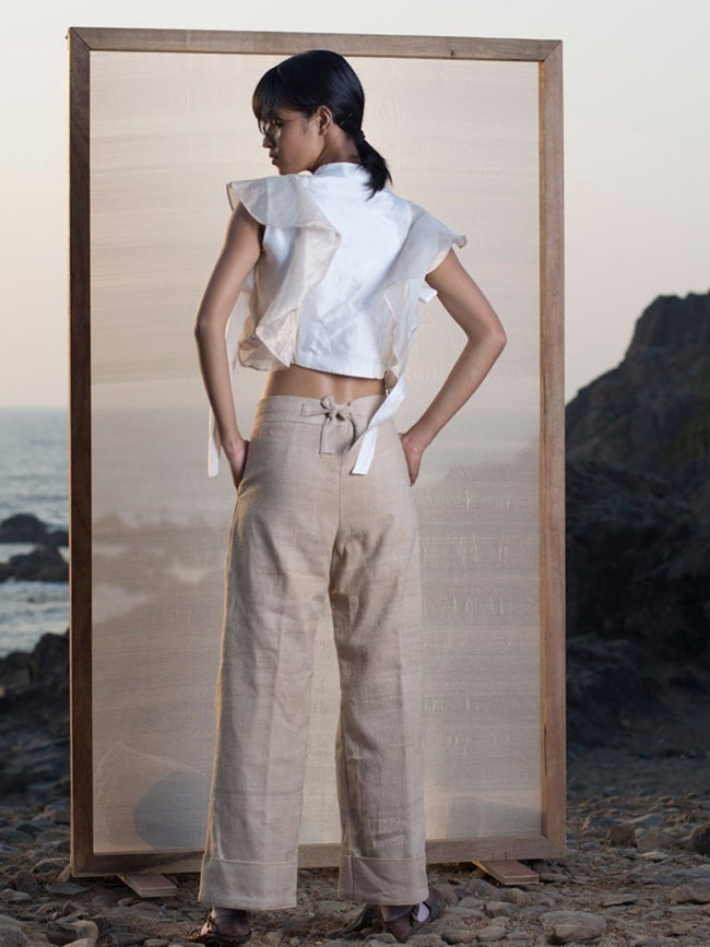 Tea Dye Trousers - BOTTOMS - IKKIVI - Shop Sustainable & Ethical Fashion