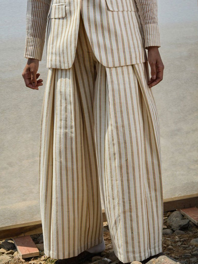 Cotton X Wool Trousers - BOTTOMS - IKKIVI - Shop Sustainable & Ethical Fashion