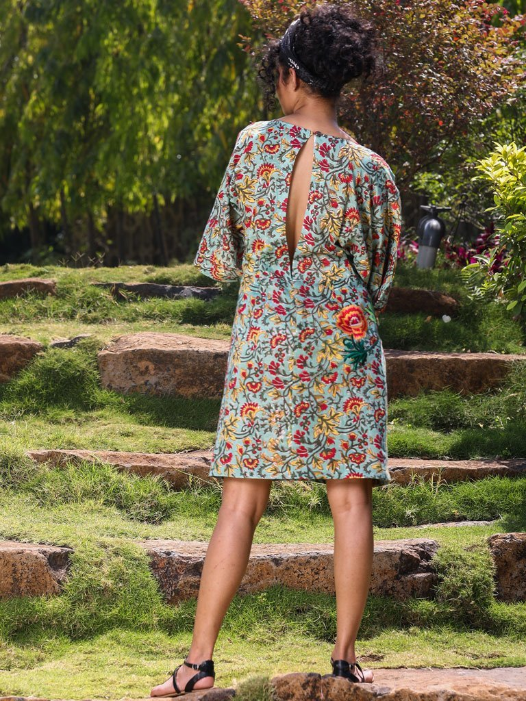 Green Print Dress - DRESSES - IKKIVI - Shop Sustainable & Ethical Fashion