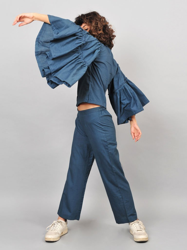 Grey Umbrella Blouse - TOPS - IKKIVI - Shop Sustainable & Ethical Fashion