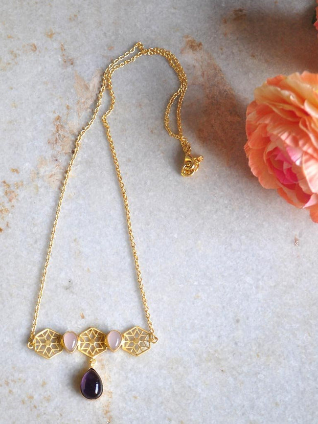 Honeycomb Necklace - Jewellery - IKKIVI - Shop Sustainable & Ethical Fashion