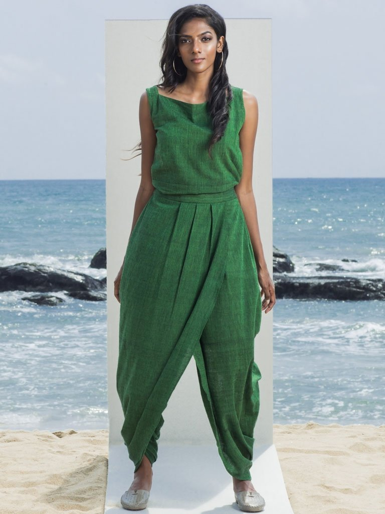 Irvin Dhoti Jumpsuit - Jumpsuits - IKKIVI - Shop Sustainable & Ethical Fashion