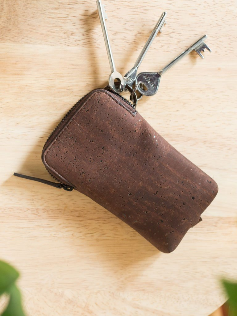 Laya Brown Keypouch - BAGS - IKKIVI - Shop Sustainable & Ethical Fashion