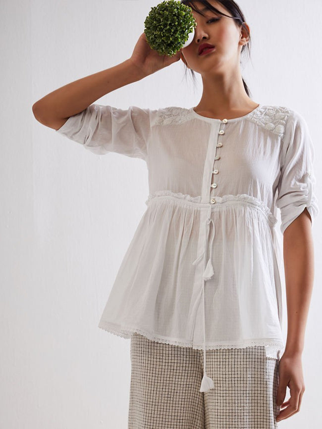 Lumino Draw String Top - TOPS - IKKIVI - Shop Sustainable & Ethical Fashion