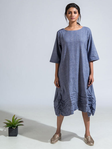 Grey Ethical cotton khadi aras dress image 1