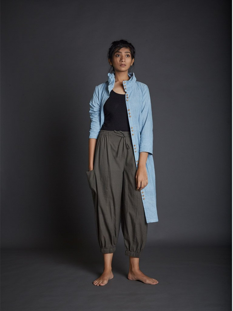 Bungee Cord Kazmira Pants - SKIRTS & TROUSERS - IKKIVI - Shop Sustainable & Ethical Fashion