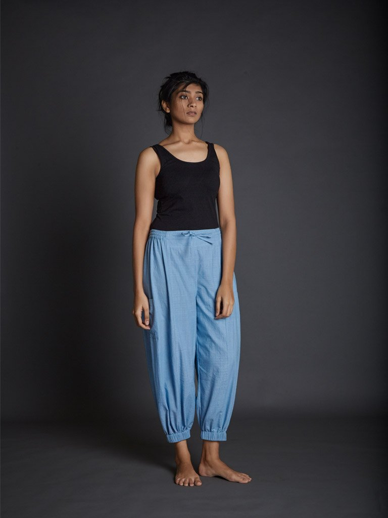 Light Blue Kazmira Pants front view