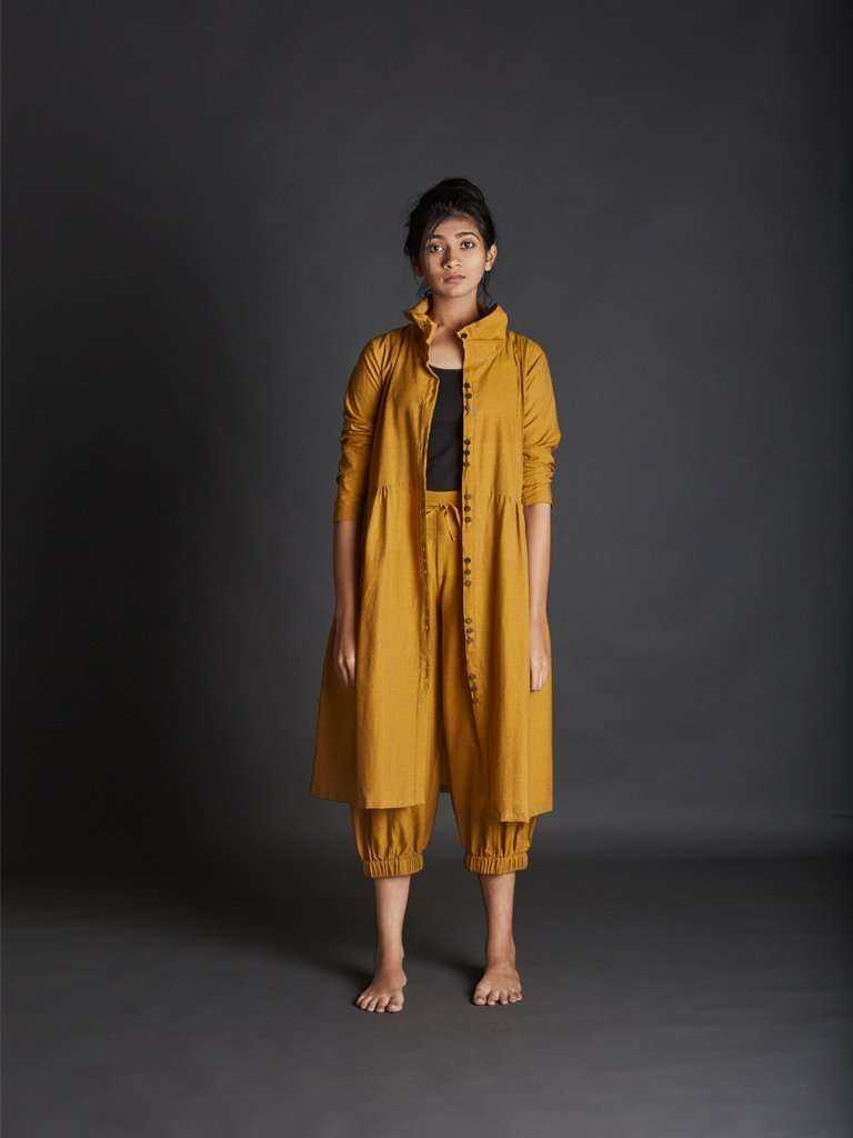 Mustard Kazmira Pants - SKIRTS & TROUSERS - IKKIVI - Shop Sustainable & Ethical Fashion