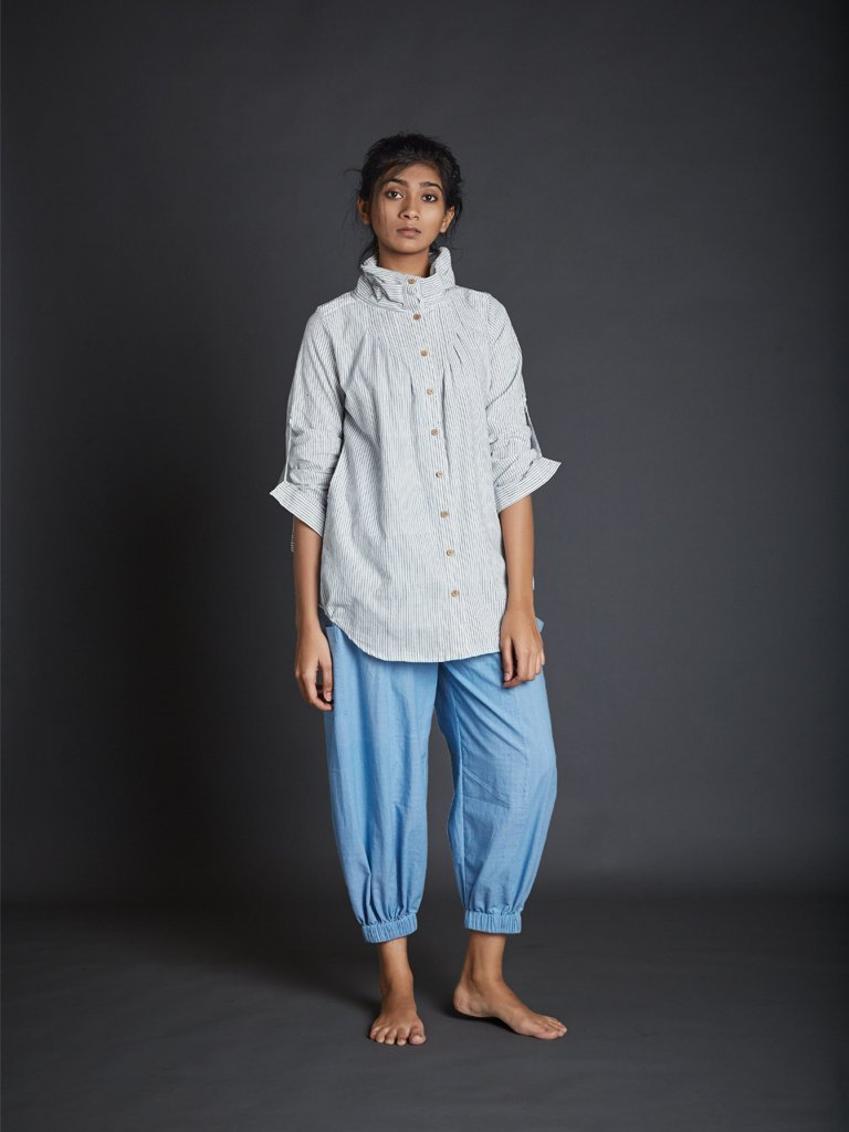 White New Ardra Shirt - TOPS - IKKIVI - Shop Sustainable & Ethical Fashion
