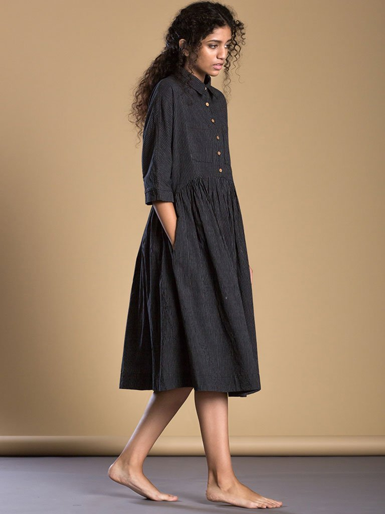 Black Shirt Dress side