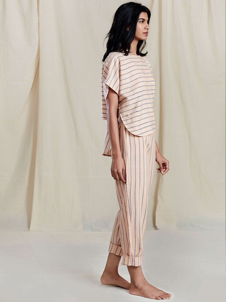 Se Thin Stripe Pants - SKIRTS & TROUSERS - IKKIVI - Shop Sustainable & Ethical Fashion