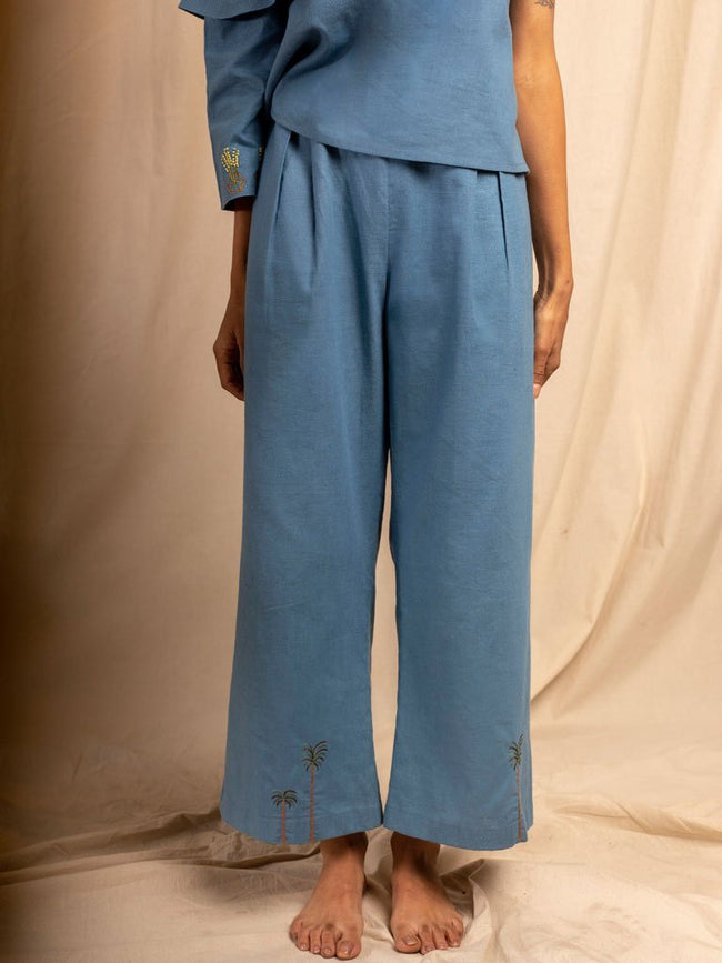 Mare Blu Trousers - SKIRTS & TROUSERS - IKKIVI - Shop Sustainable & Ethical Fashion
