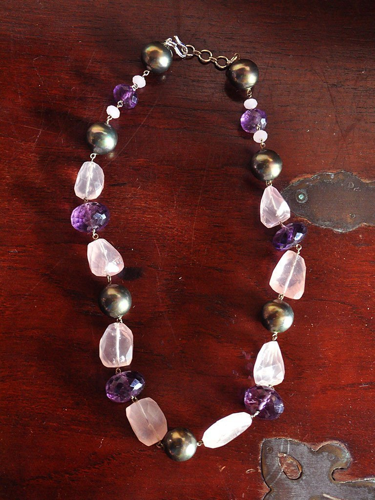 Rose & Amethyst - Jewellery - IKKIVI - Shop Sustainable & Ethical Fashion