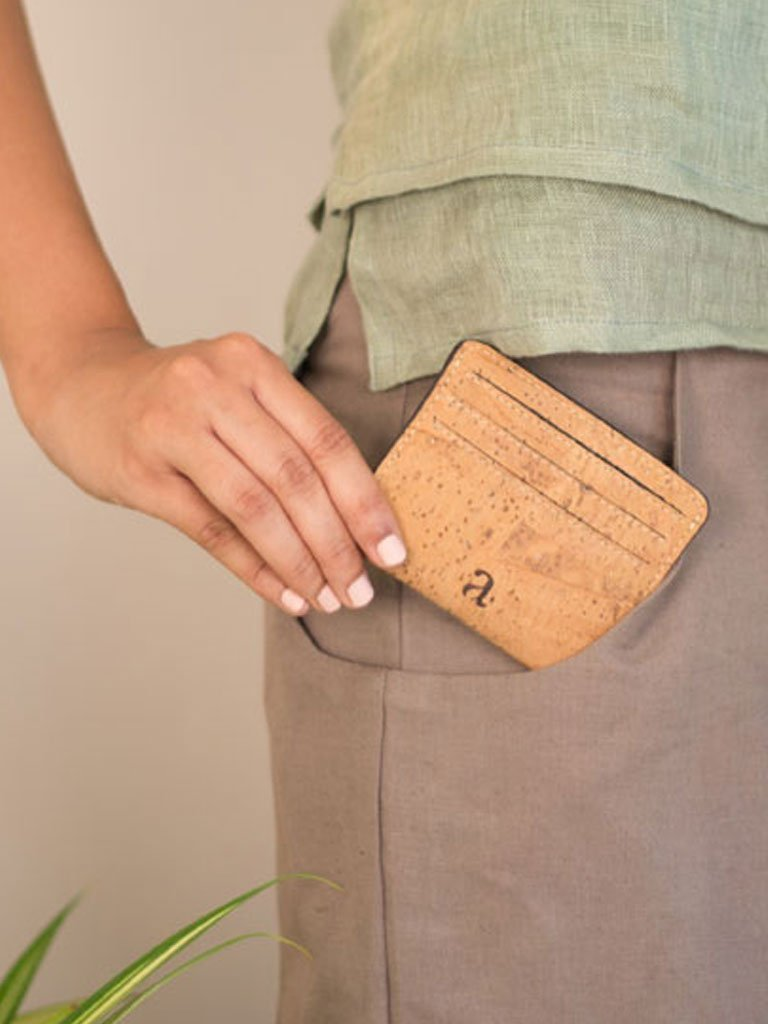 Reilly Natural Card Case - BAGS - IKKIVI - Shop Sustainable & Ethical Fashion