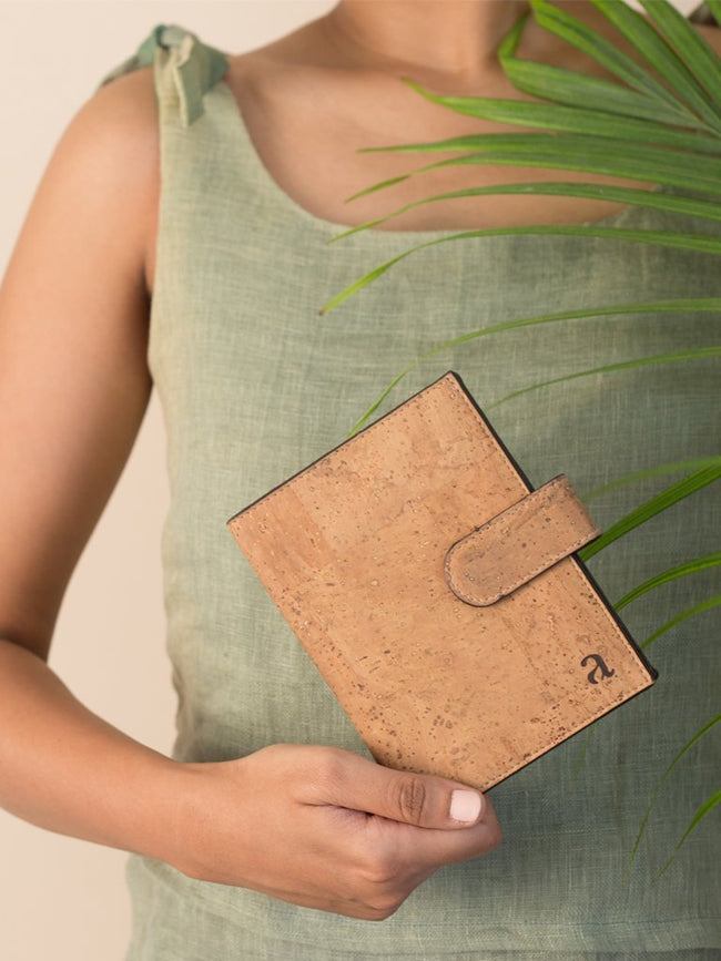 Cedar Passport Brown Wallet - BAGS - IKKIVI - Shop Sustainable & Ethical Fashion