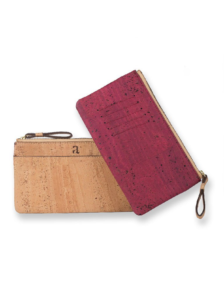 Slim Kim Maroon Wallet - BAGS - IKKIVI - Shop Sustainable & Ethical Fashion