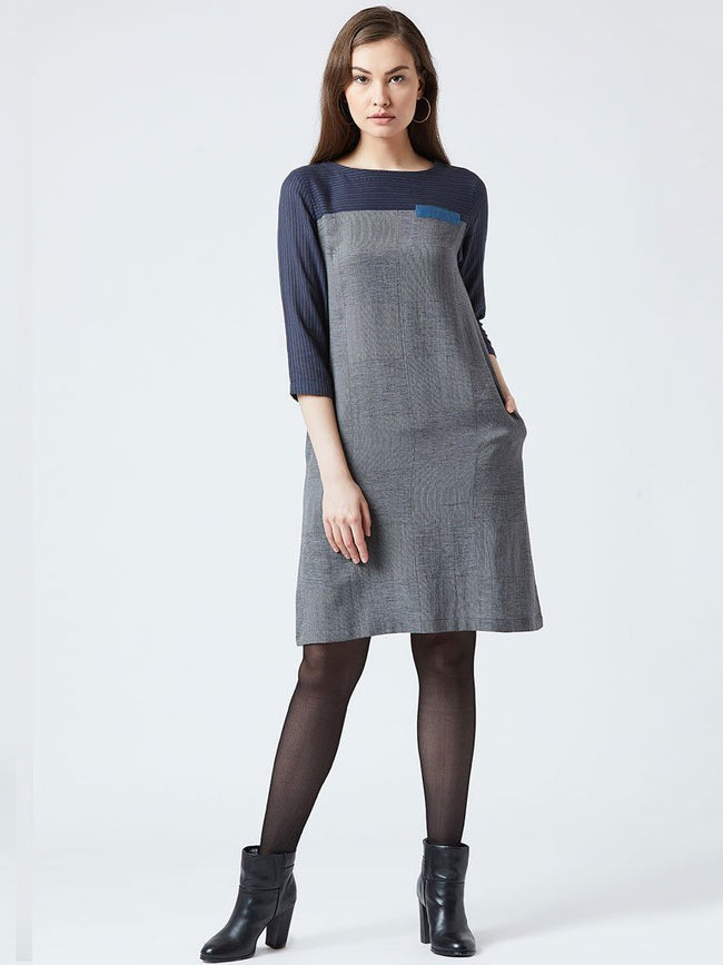 Paneled Shift Dress