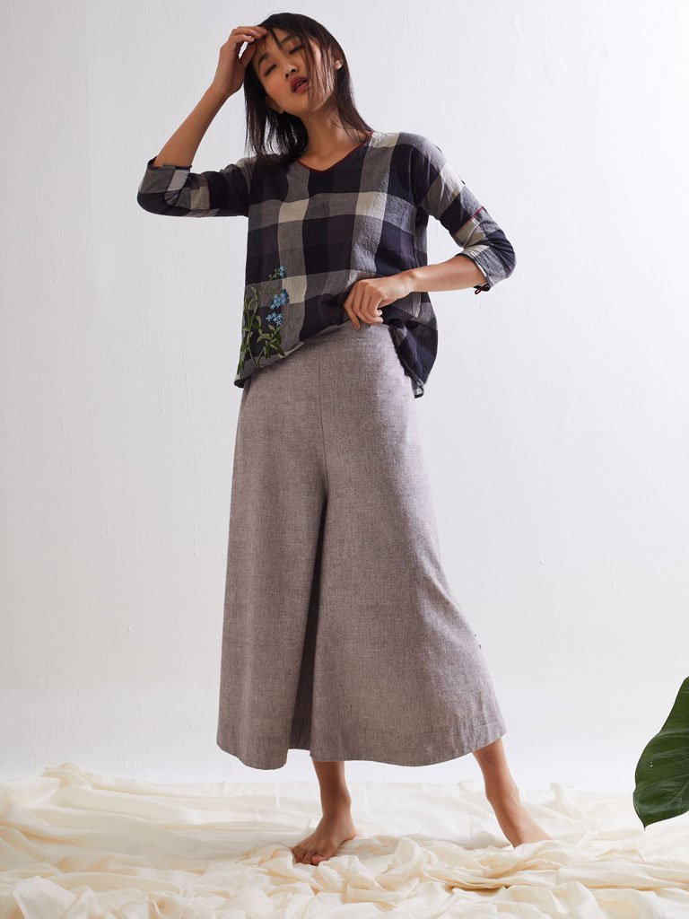Pipli Palazzo Pants - SKIRTS & TROUSERS - IKKIVI - Shop Sustainable & Ethical Fashion