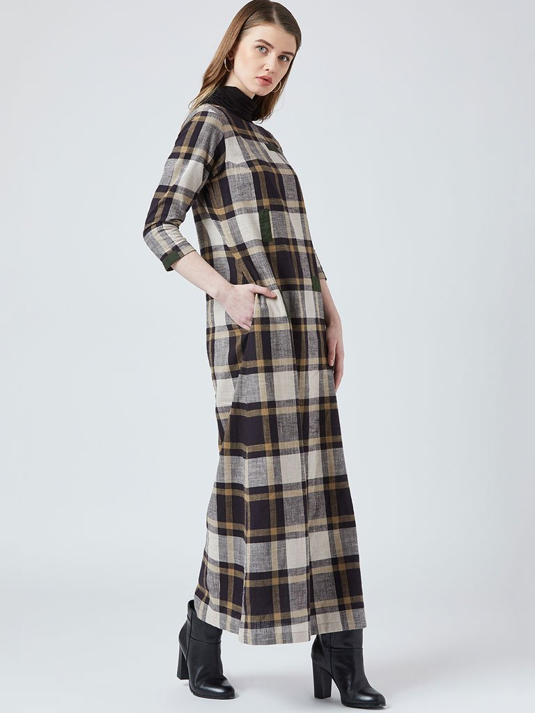 Plaid Maxi - DRESSES - IKKIVI - Shop Sustainable & Ethical Fashion