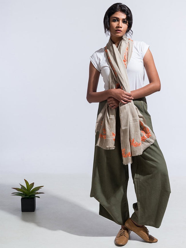 Azur Pants Olive - SKIRTS & TROUSERS - IKKIVI - Shop Sustainable & Ethical Fashion